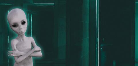 """""""Я пошел ночью в туалет и увидел пришельца в коридоре"""""""
