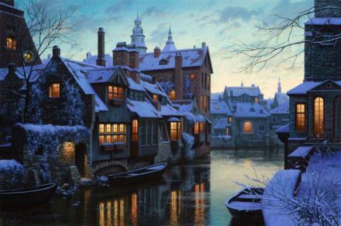 Художник нарисовал зиму тако…