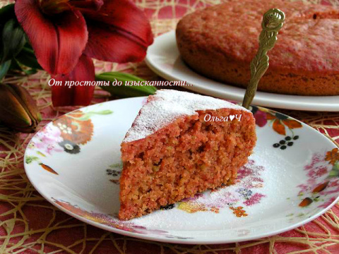 Свекольно-цитрусовый пирог