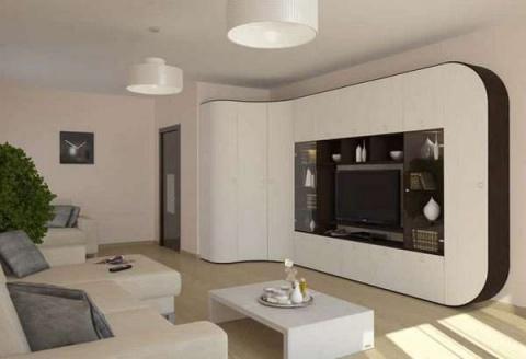 Стенка в гостиную в современном стиле — 30 фото в интерьере