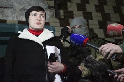 В ДНР связали массированные обстрелы со стороны ВСУ с приездом Савченко