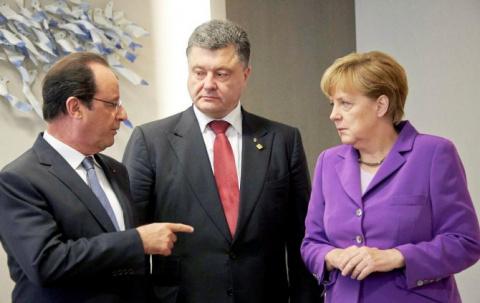 Порошенко крепко подставил Меркель и Олланда