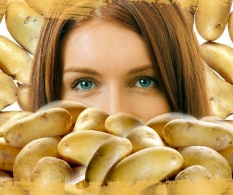 Идеальная кожа при помощь одной картошки!