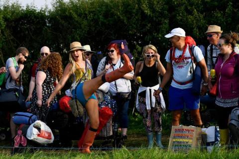 Крупнейший музыкальный Гластонберийский фестиваль