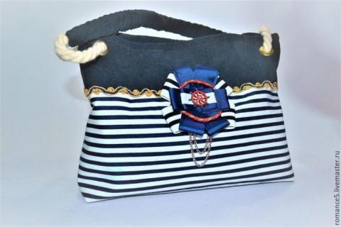 Летняя сумка в морском стиле