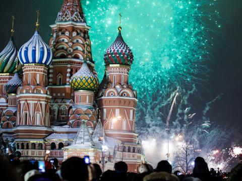 Встреча Нового года 2017 в разных странах