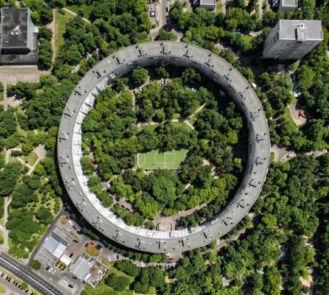 Круглые дома в Москве - амбициозный проект, который не удалось реализовать полностью
