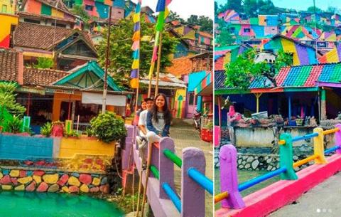 В Индонезии «Деревня-радуга»…