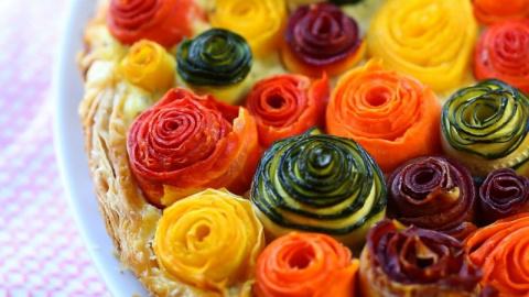 Овощной пирог из слоённого т…