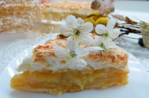 Грушевый пирог с карамельной…
