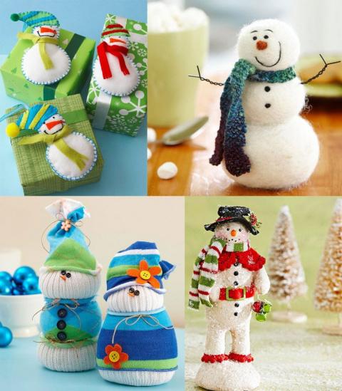 Зимние поделки с детьми и для детей