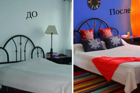 Как можно переделать спальню за уик-энд: 2 интересные идеи