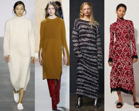 Трикотажные платья осень-зима 2016-2017