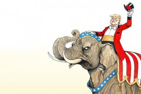 Трамп - на коне