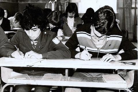 8-й класс.Паша Погосян и Сергей Ташланов.