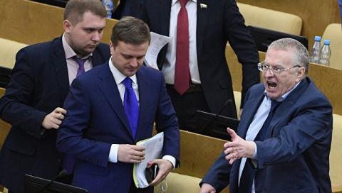 Жириновский с фракцией покинул заседание Госдумы, пообещав вешать и расстреливать негодяев и подлецов