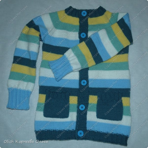 Кофта с рукавами реглан для ребенка 3-4 лет. Мастер-класс