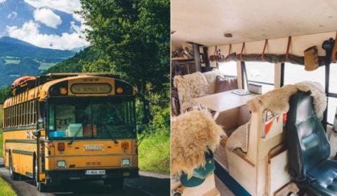 Дом для путешествий: жилище, переделанное из старого автобуса