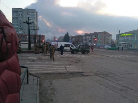 Пожар на военном складе: эва…