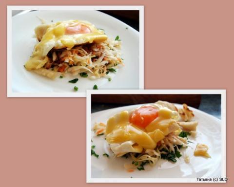 Красивый завтрак из яичницы. Фото-рецепт. Татьяна (с) SLO