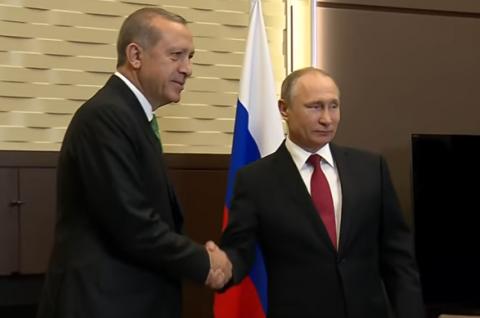 Путин пошутил над турецкой делегацией: «Не хотят твои работать»