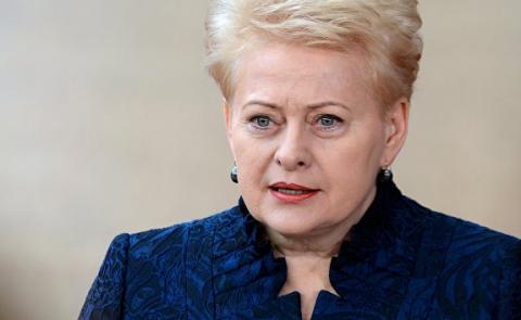 """Президент Литвы рассказала Пенсу о """"новой угрозе"""" со стороны России"""