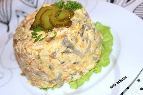 Салат «Золотое руно»- сметае…