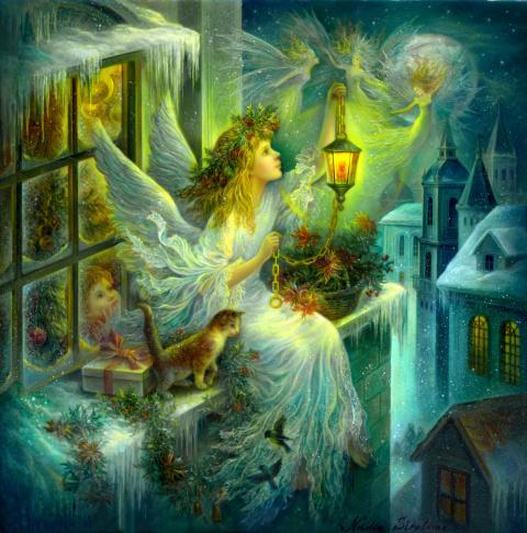 Рождественское чудо в картинах Надежды Стрелкиной. Новогоднее настроение в иллюстрациях и стихах