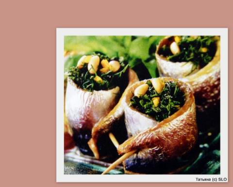 Рулеты из сардин со шпинатом. Фото-рецепт.