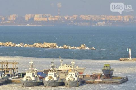 Остатки украинского ВМФ вмерзли в лед