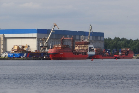 Строительство судов на Невском судостроительно-судоремонтном заводе в Шлиссельбурге