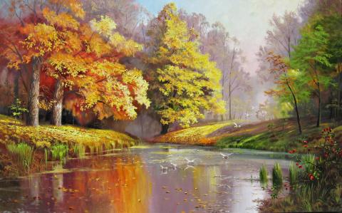 Осень в современной живописи