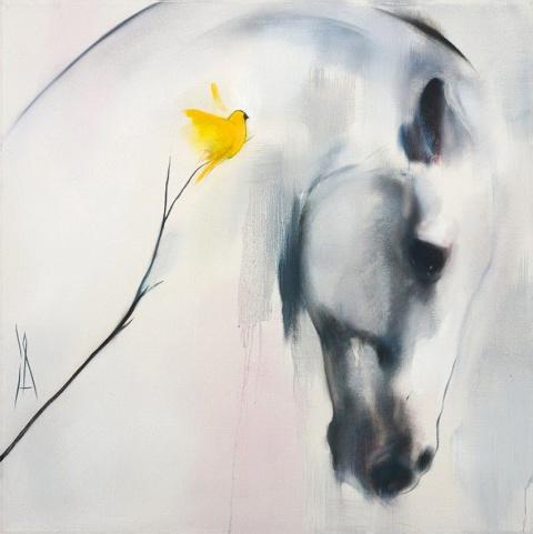 Лошади - это поэзия в движении. Художник Katja Hannula