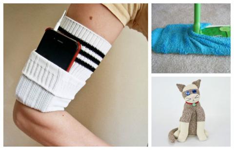 10 полезных вещей, которые можно сделать из пары носков