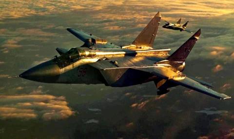 Впечатляющие кадры: МиГ-31п…