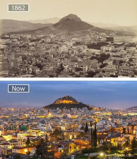 Тогда и сейчас: 15 фотографий, которые наглядно показывают, как спустя время изменились известные города мира