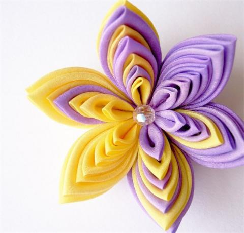 Как сделать цветы из косой бейки видео