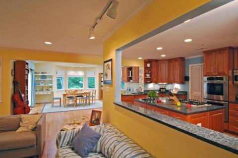Объединение кухни с гостиной. Примеры для вдохновения