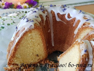 Лавандовый кекс. Вкусно и красиво!