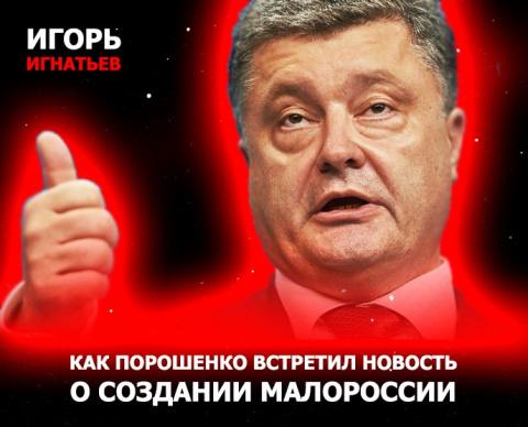 Как Порошенко встретил новость о создании Малороссии