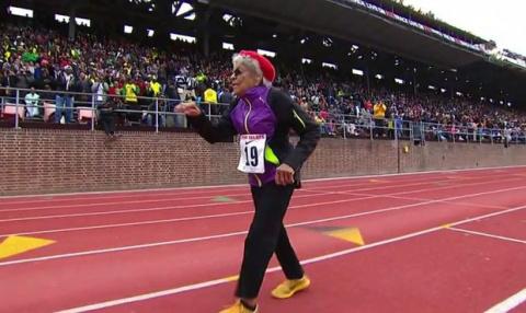 Столетняя женщина, которая побила мировой рекорд по легкой атлетике