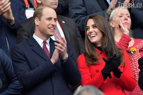 Герцогиня Кэтрин с супругом …
