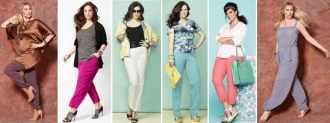 Удачные модели брюк для полн…