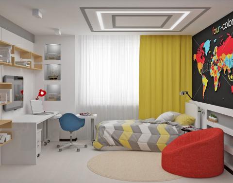 Интерьер комнаты для мальчик…