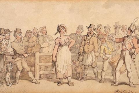 Как в Англии надоевших жен продавали