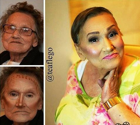 Ошеломительный макияж для бабушки. Бабушки тоже должны быть красивыми!