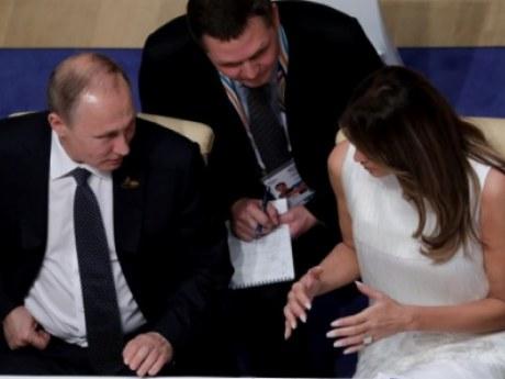 Между Владимиром Путиным и Меланьей Трамп возникла симпатия