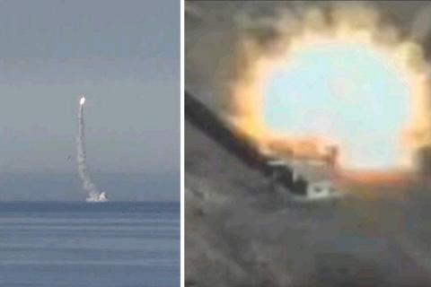 """Российские военные ударили """"Калибром"""" по """"котлу"""" с террористами в Сирии"""