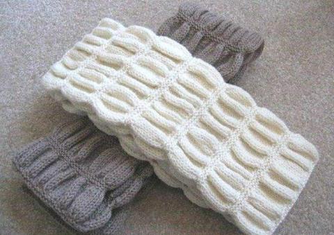 Вязаный спицами шарф гармошка…