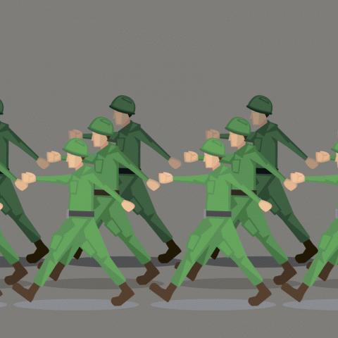 Прапорщик орёт наопоздавшего солдата…